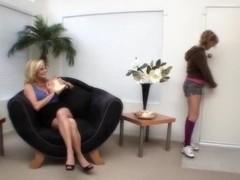 Milf Ginger Lynn and Ally Kay in hot lesbian encounter