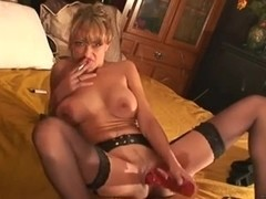 Smoking Chick Toying and Squirting