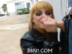 Mind-blowing outdoor blowjob