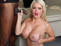 Alexis Ford in Blonde Babe Alexis Ford Gets Pounded By Big Black Cock