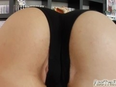 Liz gets her ass fucked by a big cock and she loves it.