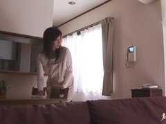 Hot boobs Kaori stuffs mouthful of cock and banged hard