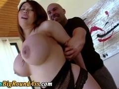 Busty asian booty stunner tit fucked