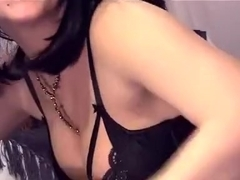 Close masturbation in fishnet stockings and gloves