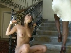 Huge Thick Transsexual Cock and A Very Hot Willing Slave Girl