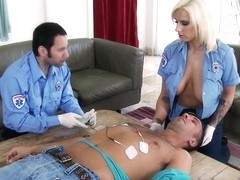 Big Tits In Uniform: Emergency Call