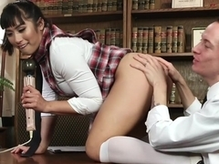 Fabulous blowjob, fetish porn movie with horny pornstars Mia Li and Owen Gray from Kinkuniversity