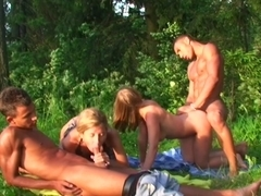 Alika & Milana Fox & Monica B. & Vicktoria Tiffany in hot student girls getting fucked in the outdoors