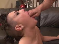 Fabulous pornstar Rachel Midori in incredible facial, tattoos sex clip