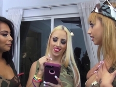 Aspen Romanoff, Marilyn Mansion, Monica Asis In Hide and Go Freak