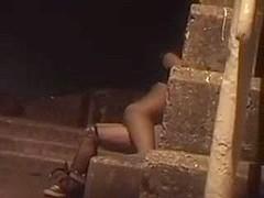 Voyeur video with couple fucking