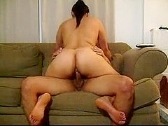 Slut wife rides best friend's cock