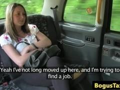 British amateur sucking cabbie before facial