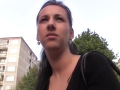 Awesome chick gets paid and assfucked outside