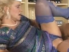 Bea Dumas Gazoo Screwed in Sexy Blue Lace Knickers..