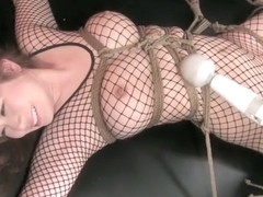 Best Japanese model in Incredible Threesome, Fishnet JAV scene
