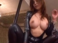 Kaori In A Tight Latex Suit Opened Up For A Hard Fucking