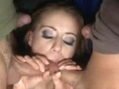 Young Beautiful Blonde Whore Get All Holes Fucked