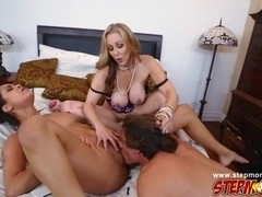 Horny busty babes Abby Lee and Julia gets fucked