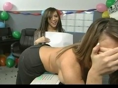 Office Angels Lesbo Sex BVR
