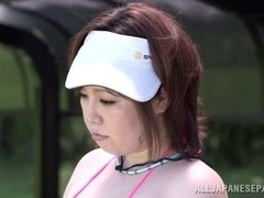 Mayu Koizumi hot Asian milf enjoys outdoor cock