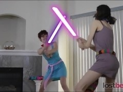 Dicksaber Duel with Princess Lily and Darth RyAnne