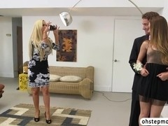 Lustful Remy caughts in lesbian sex with her stepmom Nikki