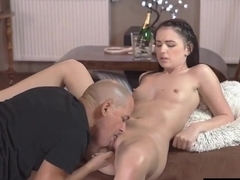 Older Guy Fingers & Fucks His Stunning Young GF Kittina Ivory