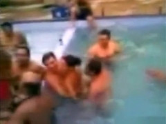 Brazillian pool party going crazy