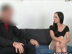 Skinny student fucks in casting