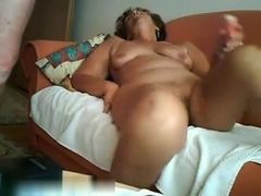 Latin mature brunette make sex fun with his young dude friend in home