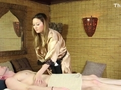 Teen masseuse fingered