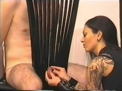 Heavy Metal Girl Ballbusting
