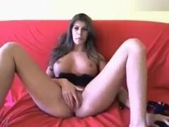 Busty HotModelX fucks her ass