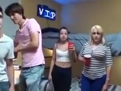 College Party Turns into Group Sex orgy