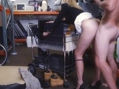 Blonde MILF pawned her pussy and fucked hard to earn cash