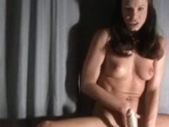 Acrobatic Brunette Hair masturbates
