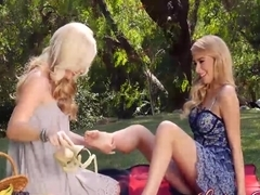 Penelope and Samantha have a picnic which ends with sex