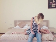 flexible positions with skinny teen