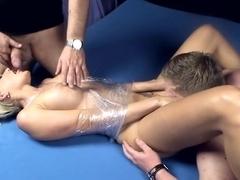 Hottest pornstar in Fabulous Threesomes, HD porn movie