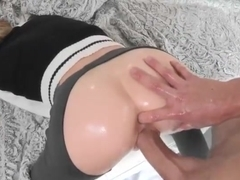 Petite Dakota gets pounded by a big cock