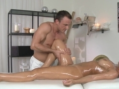 Horny pornstars Satin, Cage in Fabulous Massage, Latina porn clip
