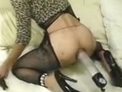 Incredible amateur shemale movie with Stockings, Fetish scenes