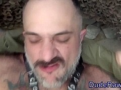 Raw fucked dude creampied