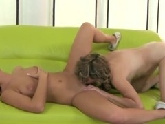 Barbie White and Judyt are licking wet twats