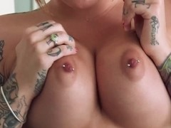 Busty step-mummy pussyfucked in shower threesome