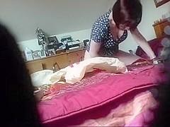 Hidden livecam movie scene of mamma masturbating