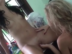 Bella Margo in travel sex video showing lesbian adventure and bj
