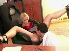 Amazing blonde honey has her asshole plowed