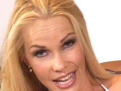 Blonde porn star fucking two fellas at one time